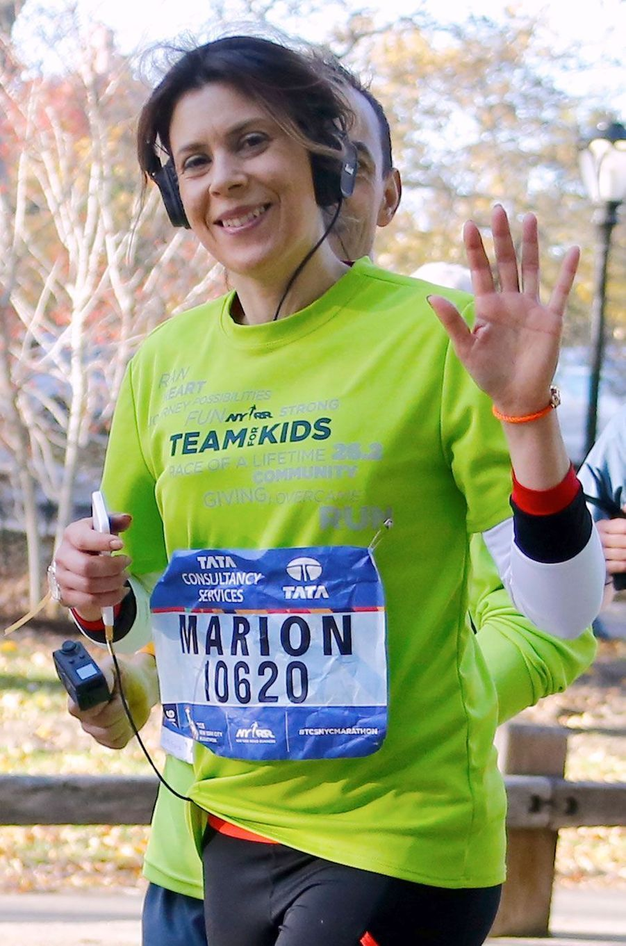 Marion Bartoli au marathon de New York