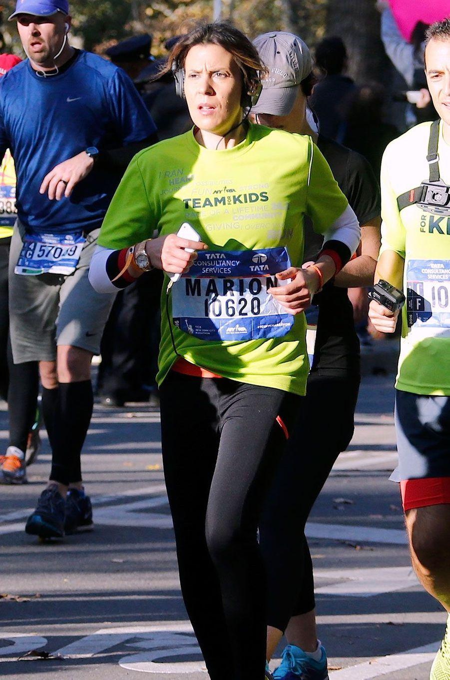 Marion Bartoli pendant le marathon de New York