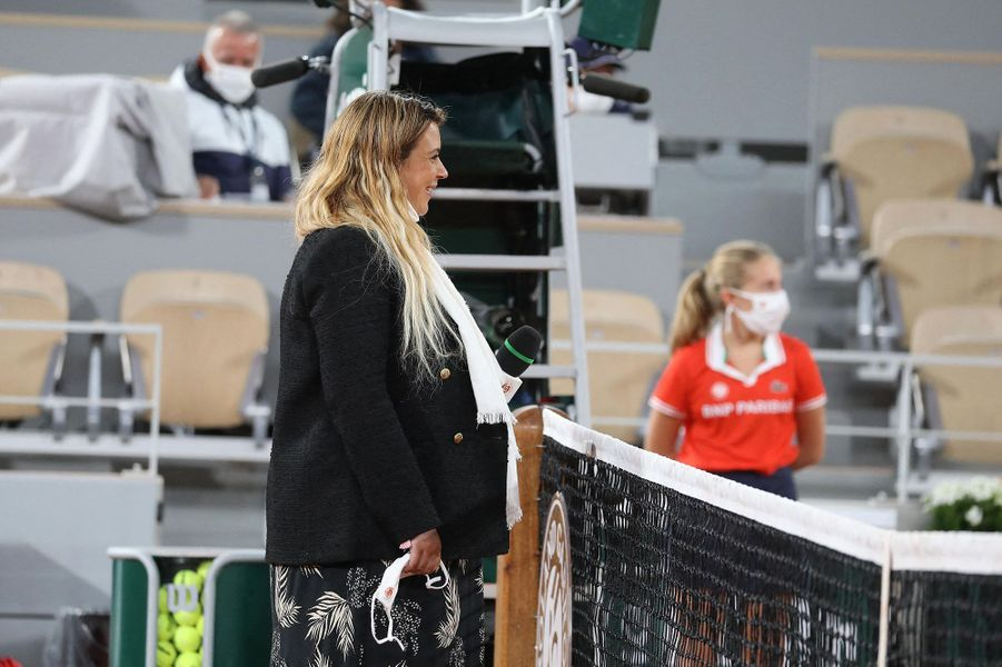 Marion Bartolilors des internationaux de tennis de Roland-Garros à Paris le 27 septembre 2020