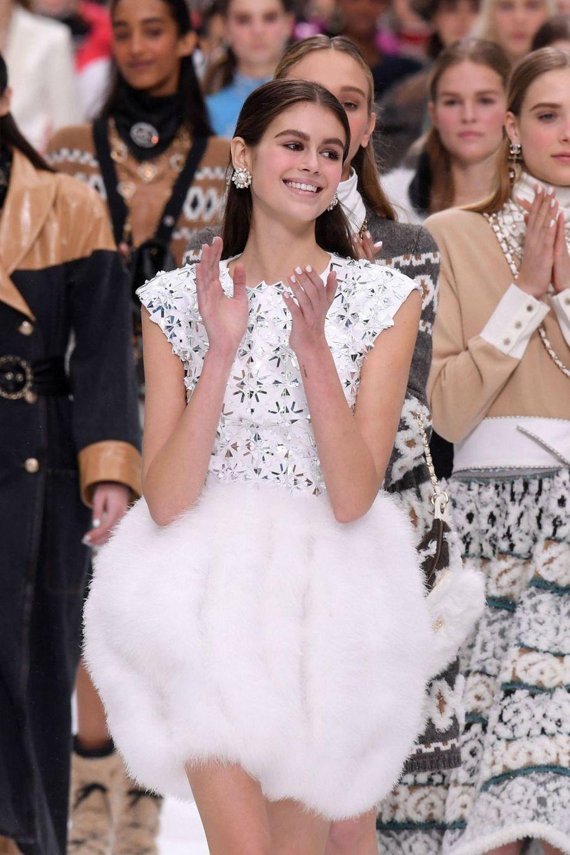 Kaia Gerberau défilé Chanel au Grand Palais à Paris le 5 mars 2019