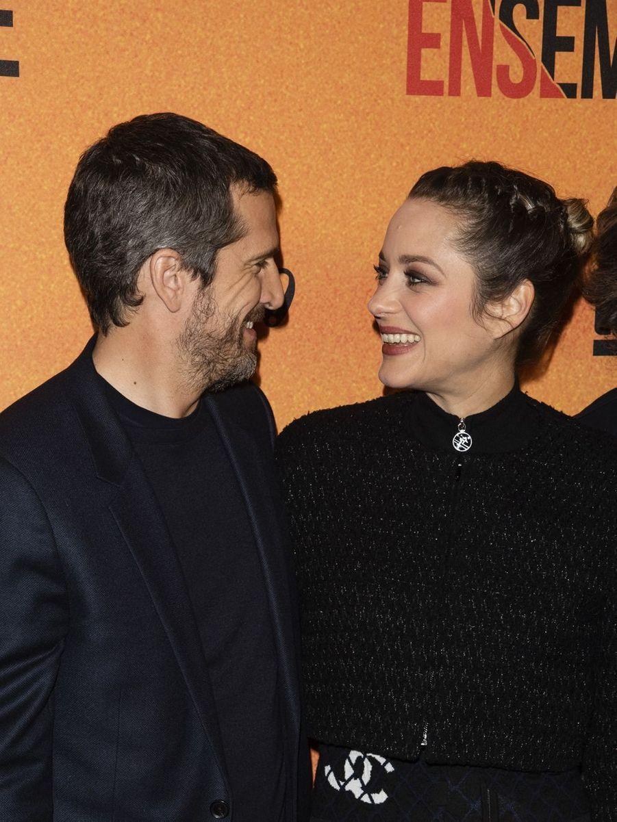 Guillaume Canet et Marion Cotillard à la première du film «Nous finirons ensemble» à Paris le 29 avril 2019