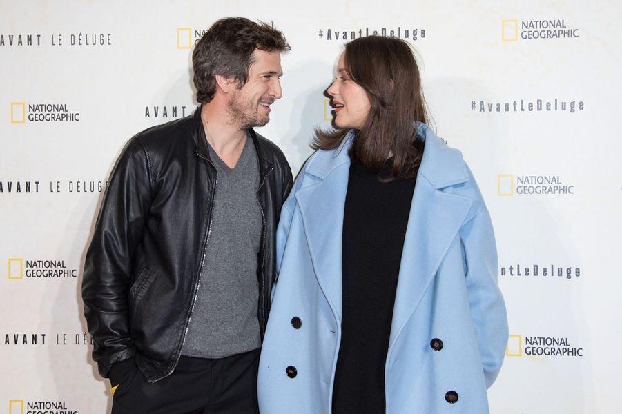 Guillaume Canet et Marion Cotillard à la première du documentaire «Avant le déluge» en octobre 2016 à Paris