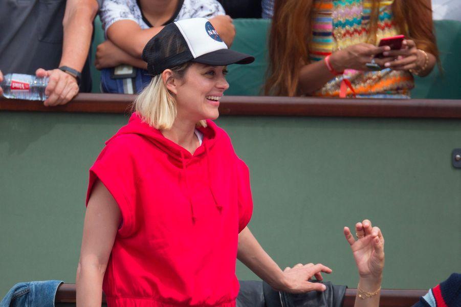 Marion Cotillard à la finale hommes de Roland-Garros