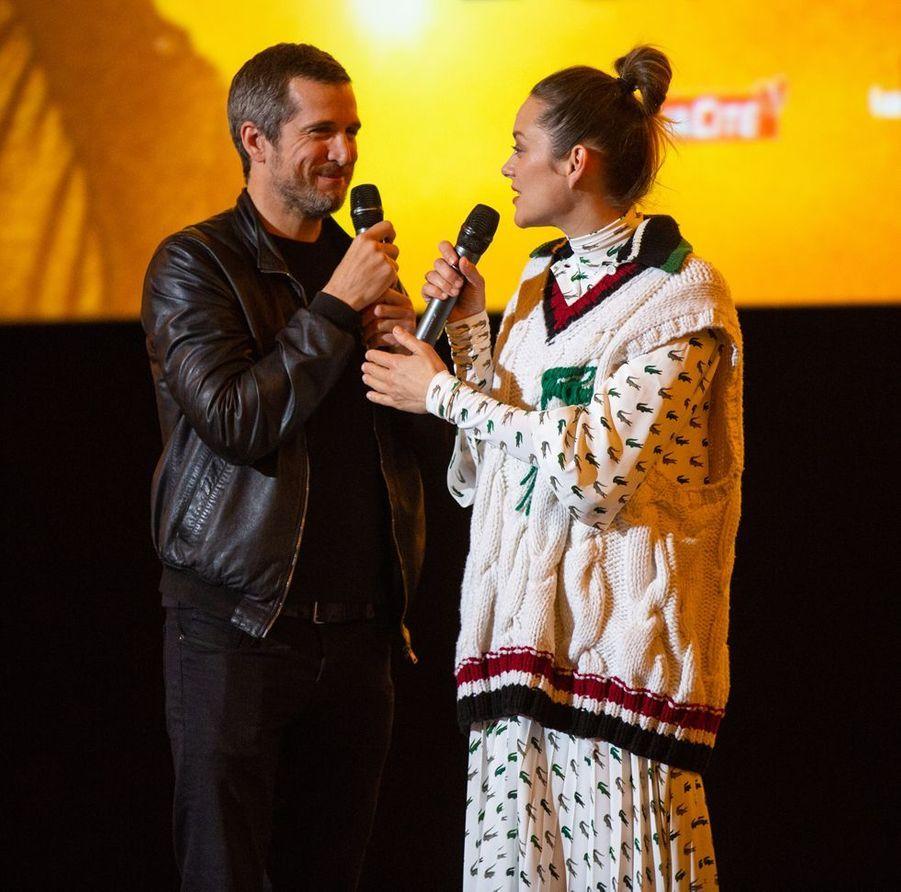 Guillaume Canet et Marion Cotillard à Bruxelles le 23 avril 2019