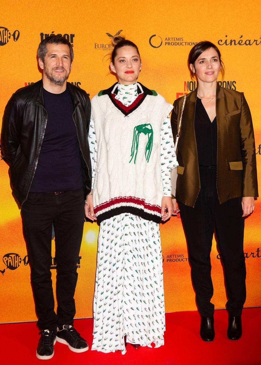 Guillaume Canet, Marion Cotillard et Clémentine Baert à Bruxelles le 23 avril 2019