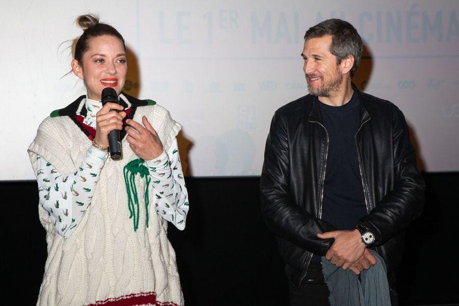 Marion Cotillard et Guillaume Canet à Bruxelles le 23 avril 2019