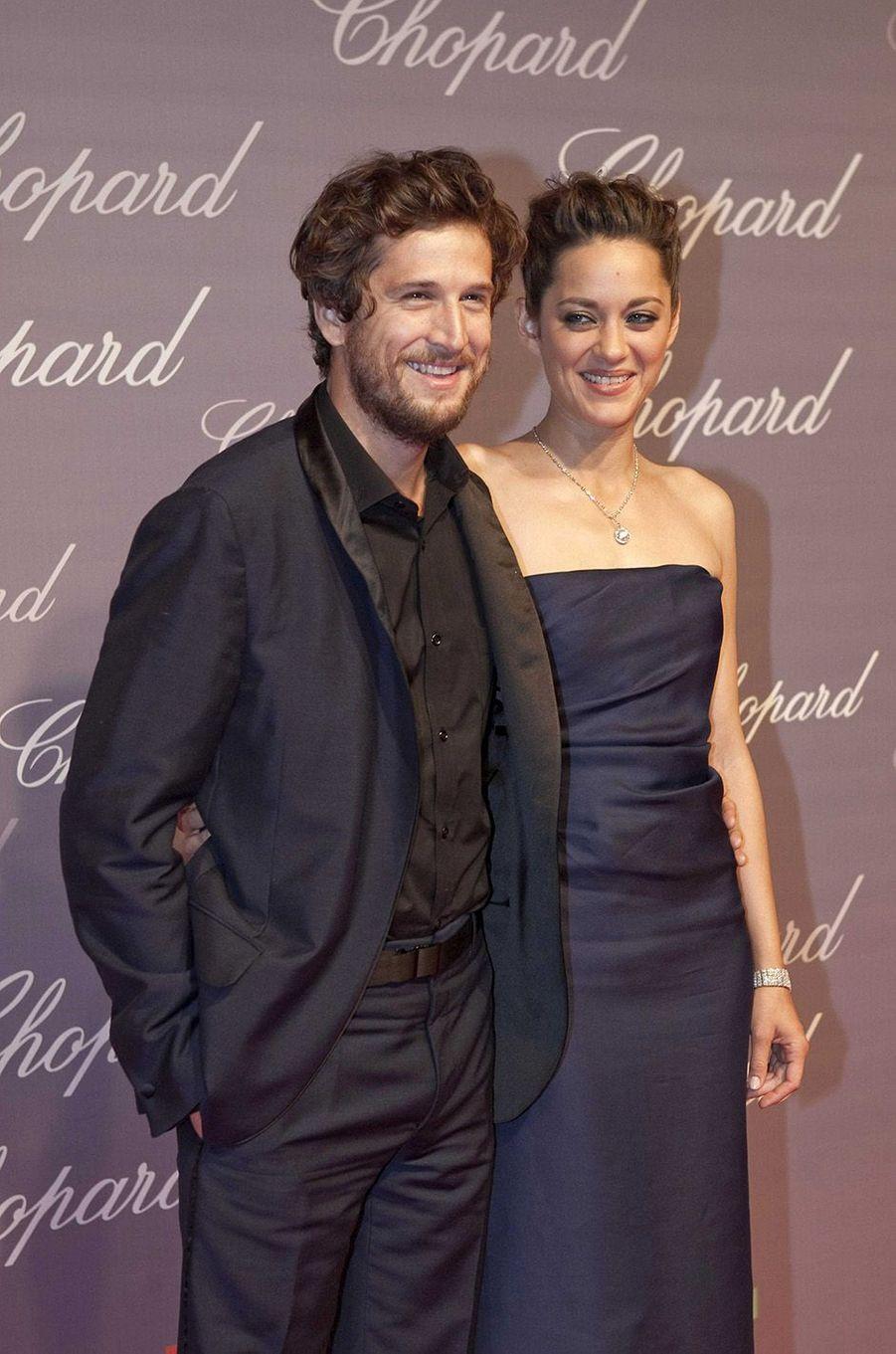 Marion Cotillard et Guillaume Canet à Cannes en 2009.