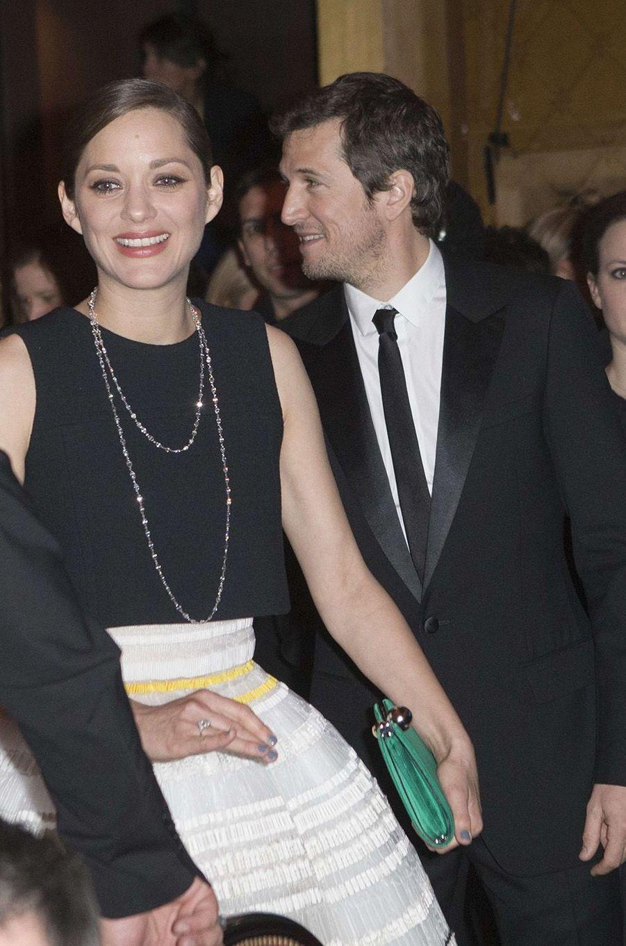 Marion Cotillard et Guillaume Canet à la cérémonie des Césars en 2015.