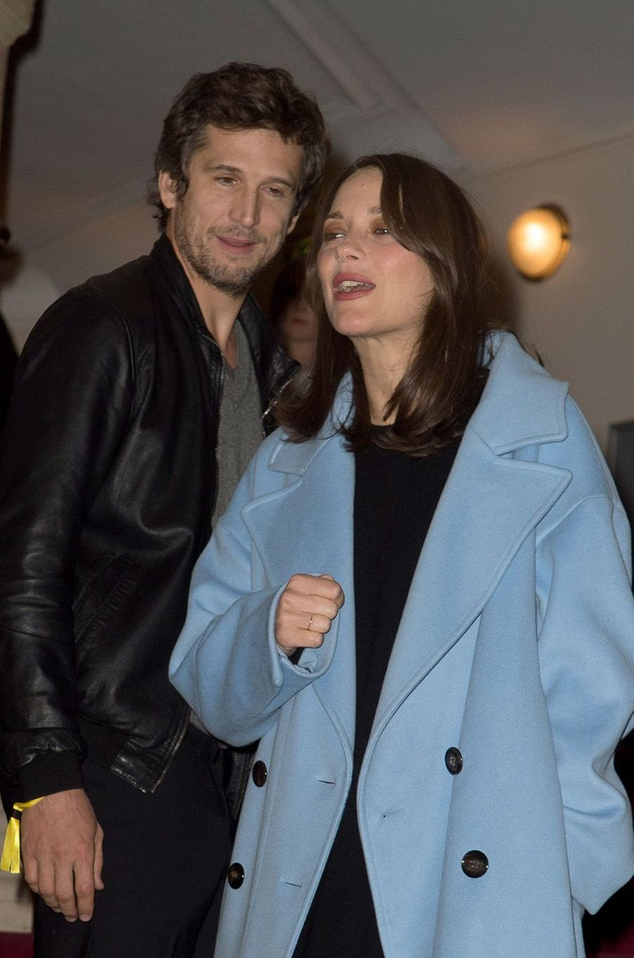 Marion Cotillard et Guillaume Canet au théâtre du Châtelet en octobre 2016.