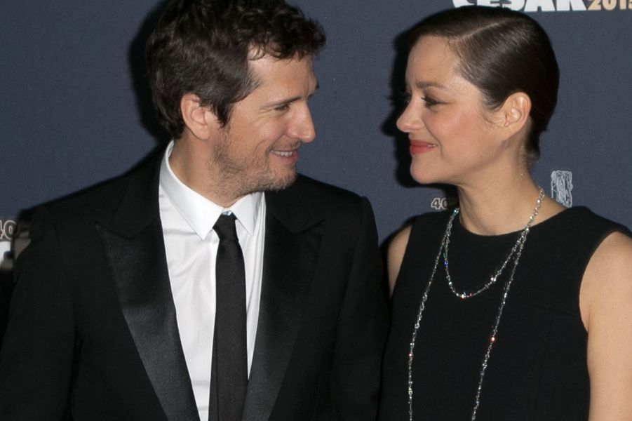 Marion Cotillard et Guillaume Canet aux Césars 2015.
