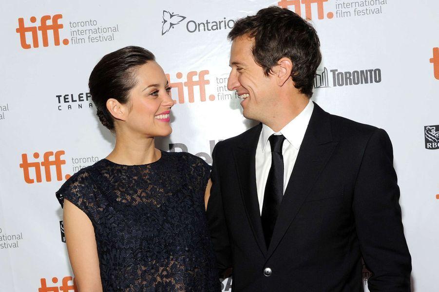 Marion Cotillard et Guillaume Canet à Toronto en 2013.