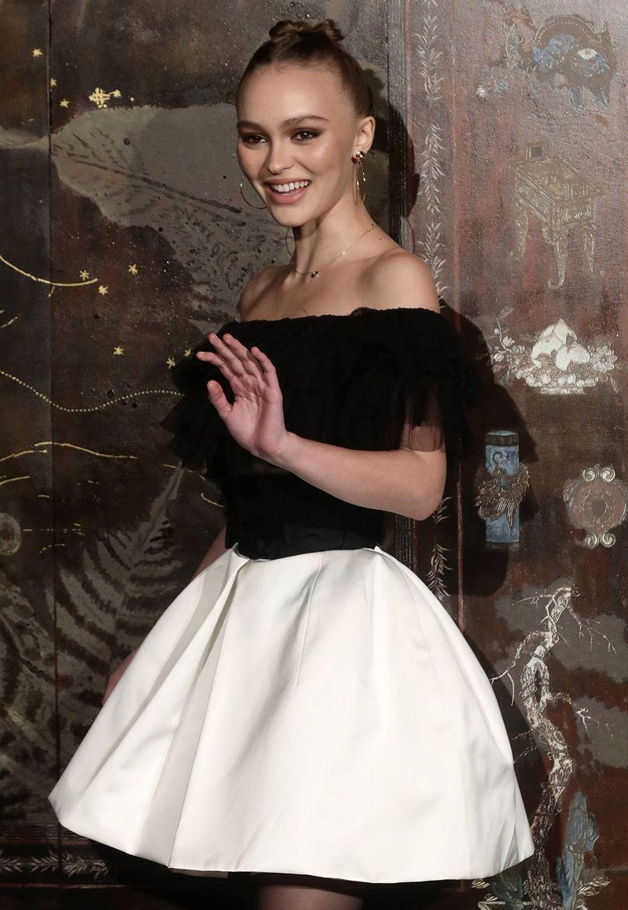 Lily-Rose Depplors du défilé Chanel Métiers d'Art àParis le 4décembre2019.