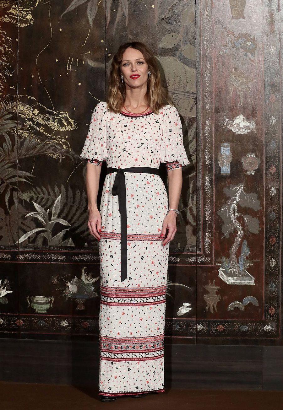 Vanessa Paradislors du défilé Chanel Métiers d'Art àParis le 4décembre2019.