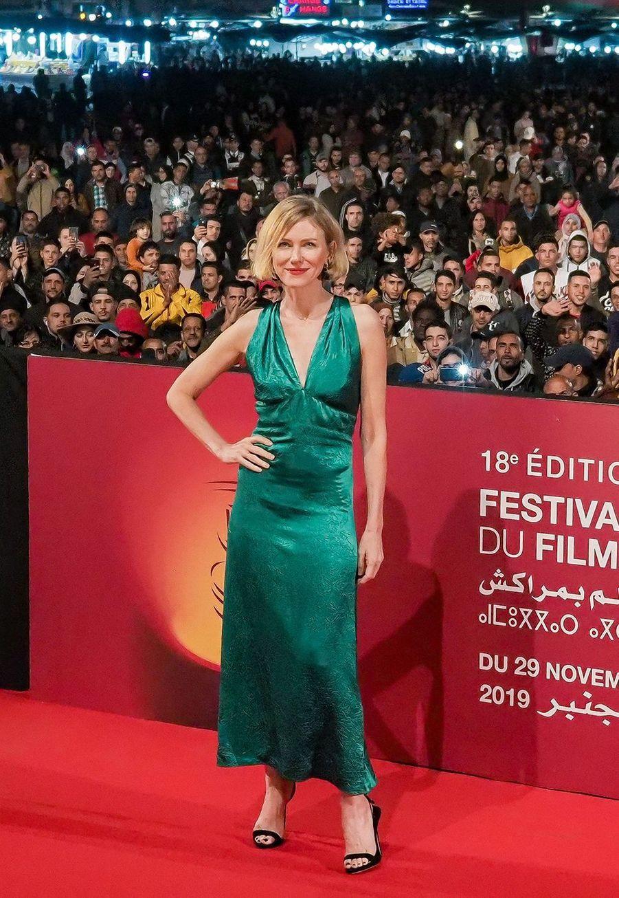 """Naomi Wattsse rendà la projection du film """"King Kong""""lors du festival du film de Marrakech, le 29 novembre 2019."""