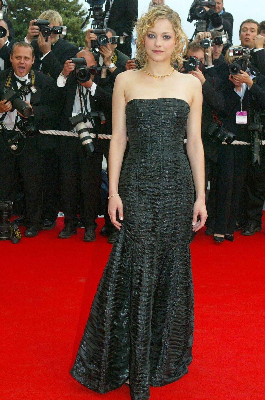 Marion Cotillard au festival de Cannes 2004.