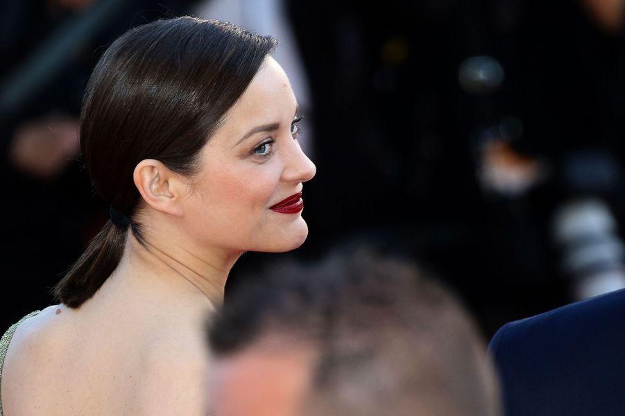 """Marion Cotillard à Cannes pour """"Mal de pierres"""" en 2016."""