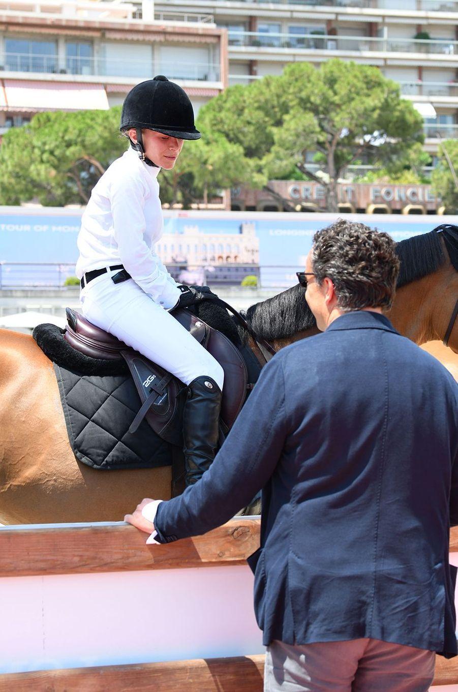 Mary-Kate Olsen et Olivier Sarkozy au Longines Global Champions Tour à Monaco en juin 2019