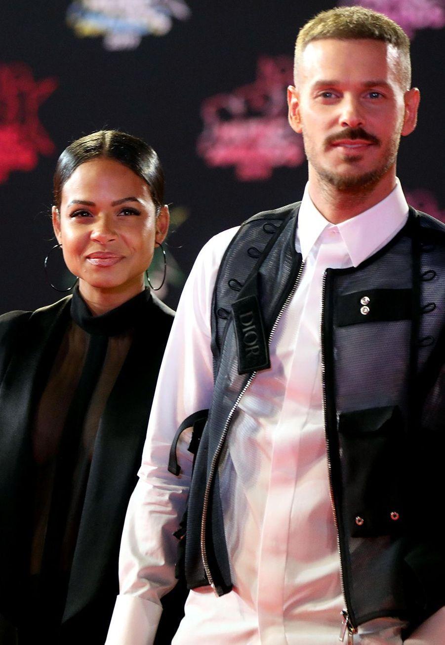Matt Pokora et sa compagneChristina Milian à la cérémonie des NRJ Music Awards, samedi à Cannes
