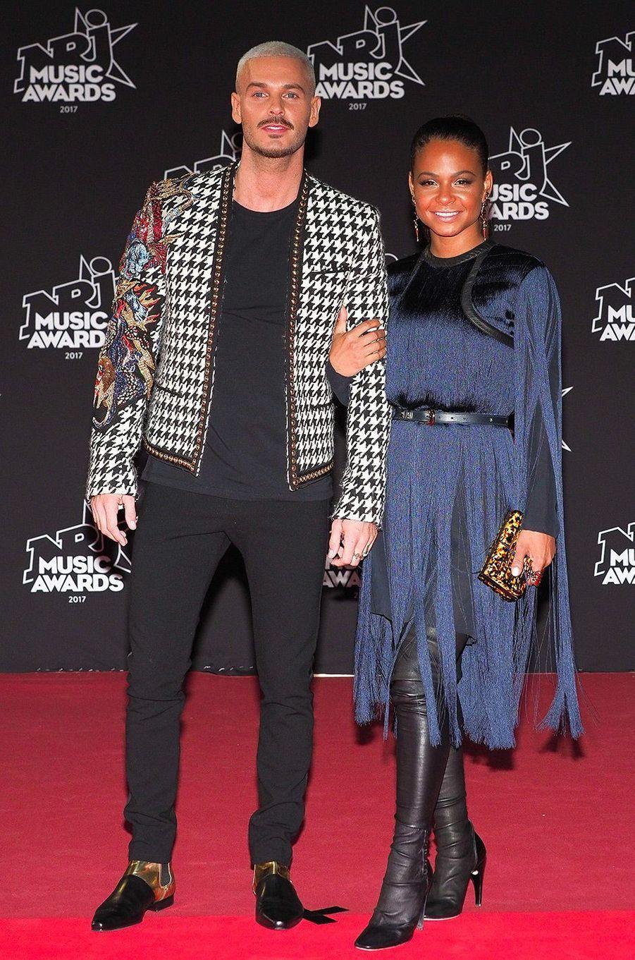 Matt Pokora et Christina Milian aux NRJ Music Awards, samedi 4 novembre