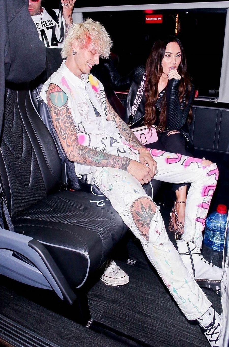 Machine Gun Kelly et Megan Foxà Los Angeles le 24 septembre 2020