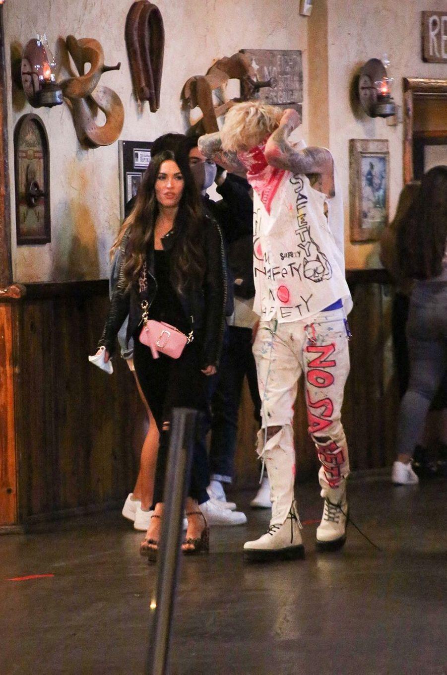 Megan Fox et Machine Gun Kelly à Los Angeles le 24 septembre 2020