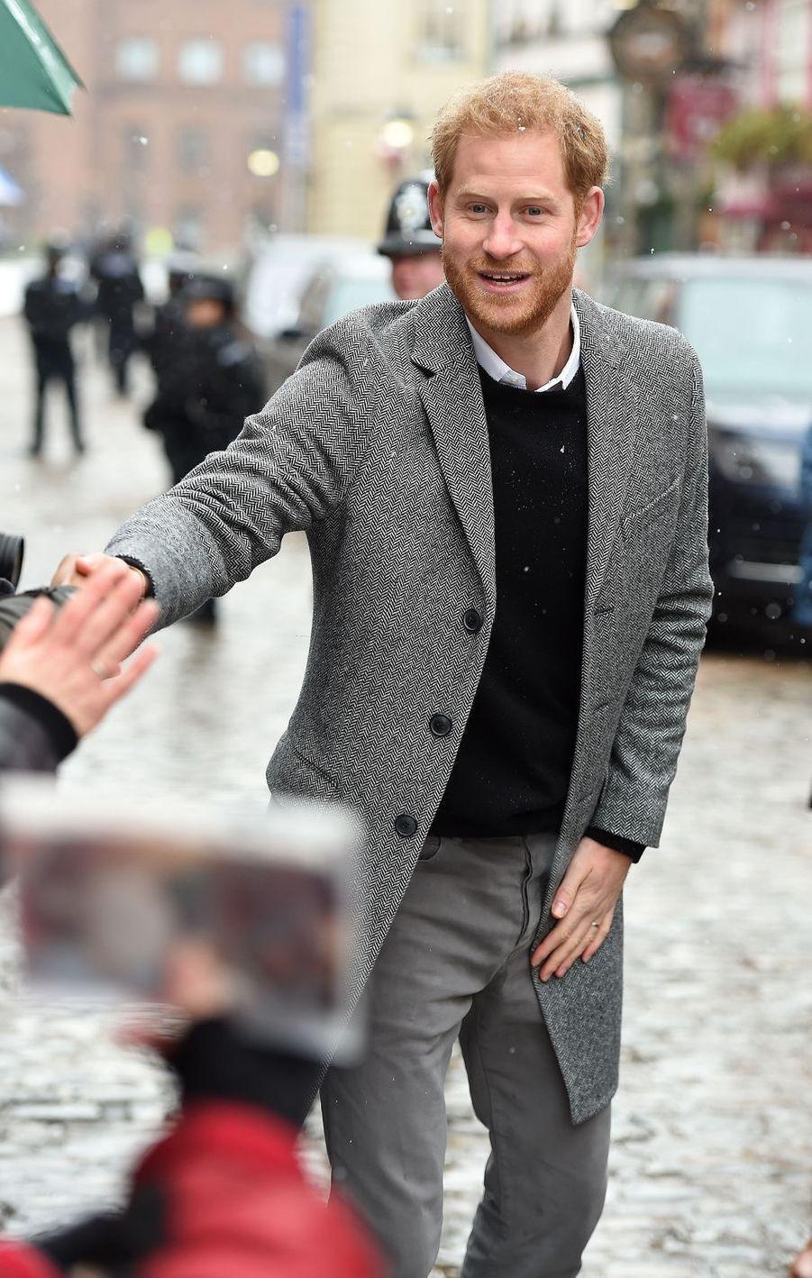 Le prince Harry, duc de Sussex, en visite à Bristol le 1er février 2019