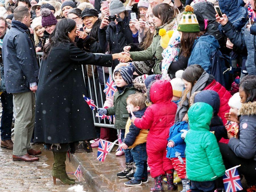 Meghan Markle, duchesse de Sussex (enceinte), en visite à Bristol le 1er février 2019