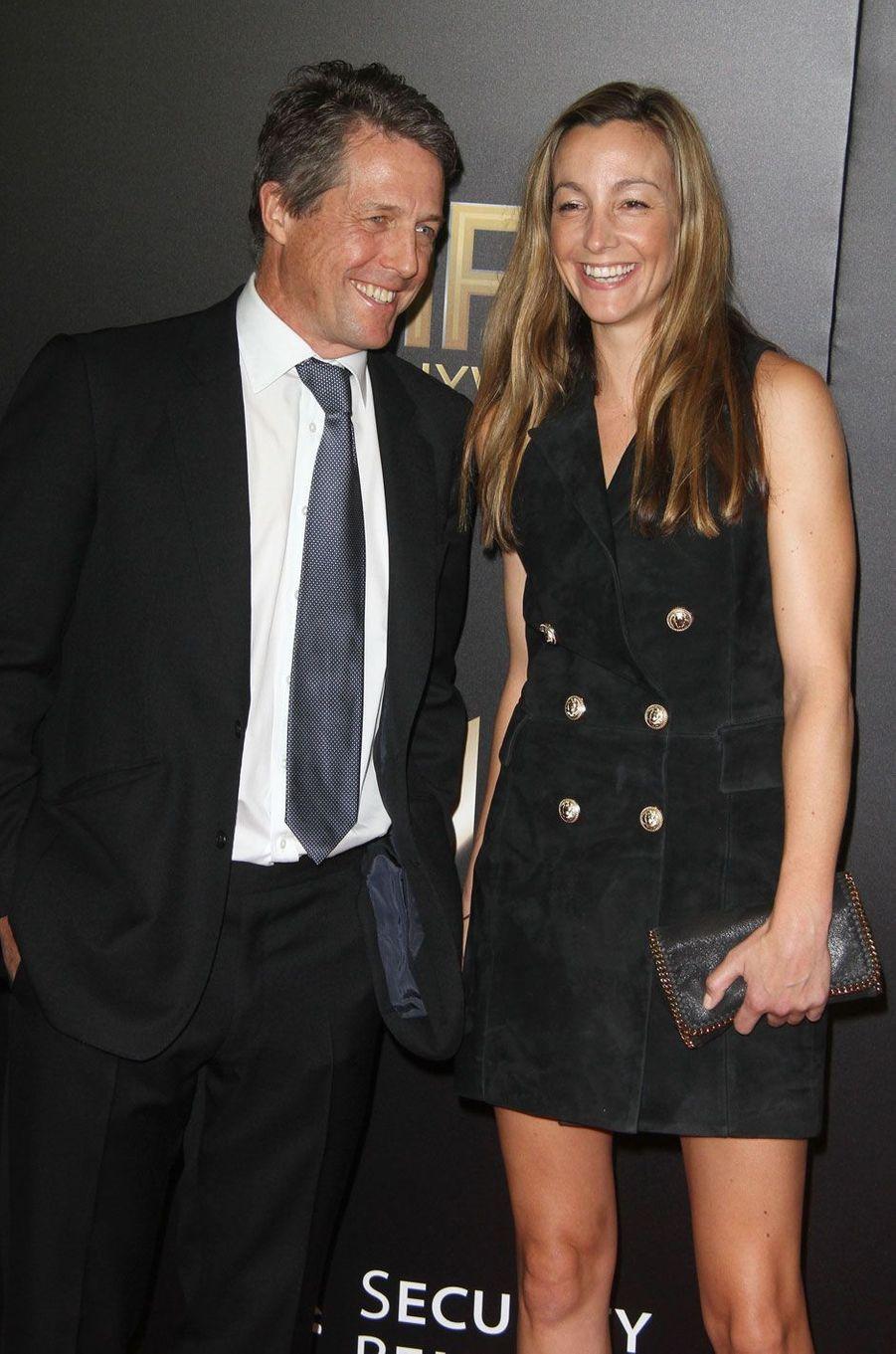 Hugh Grant et sa femme Anna Elizabeth