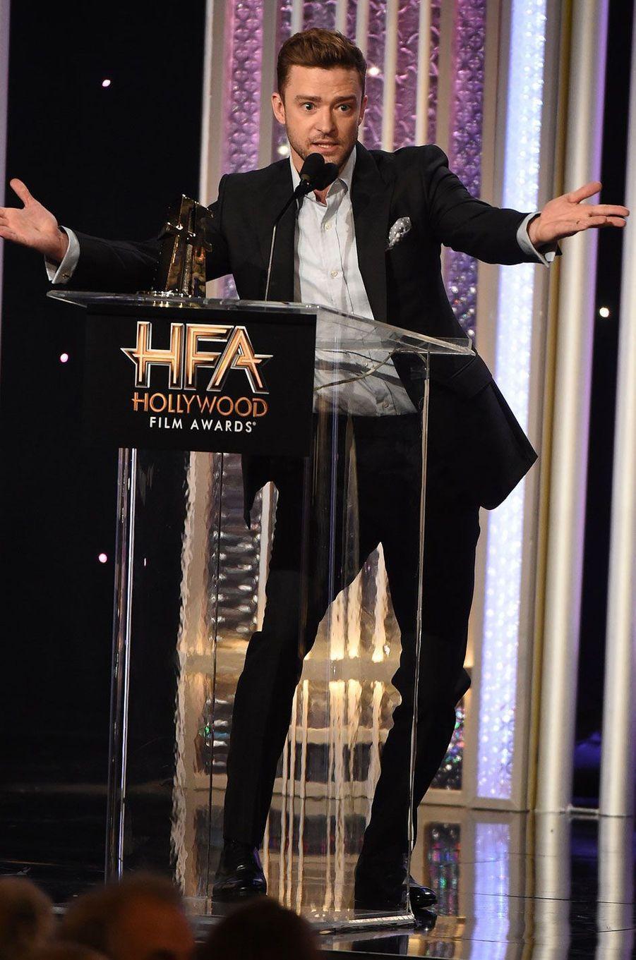 """Justin Timberlake, reçoit le prix de la meilleure musique pour """"Troll"""""""