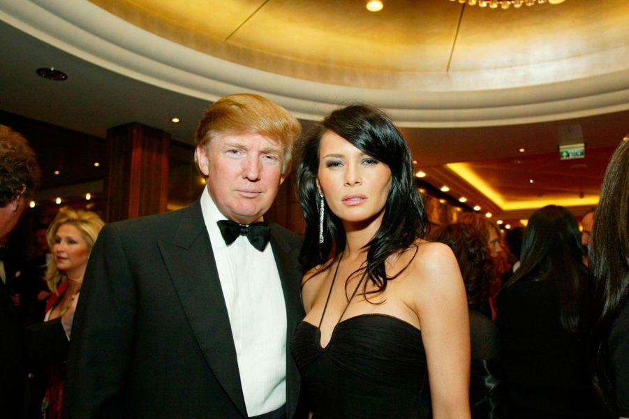 Donald et Melania Trump en 2004