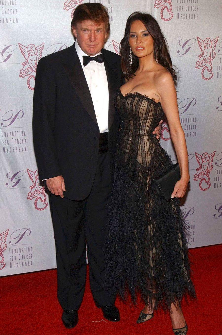 Donald et Melania Trump en 2003