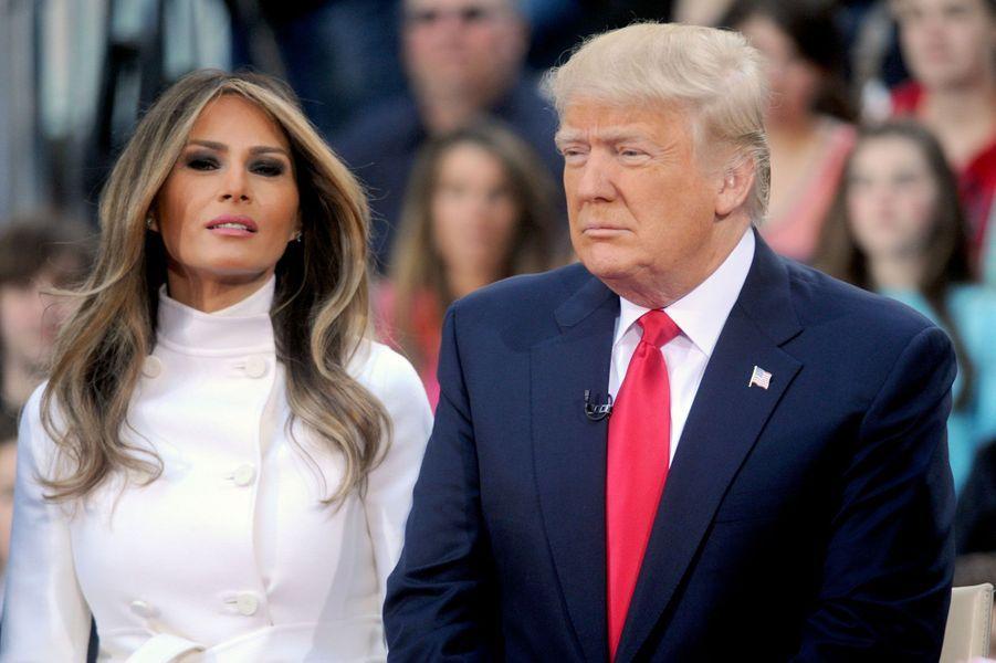Melania et Donald Trump en 2016