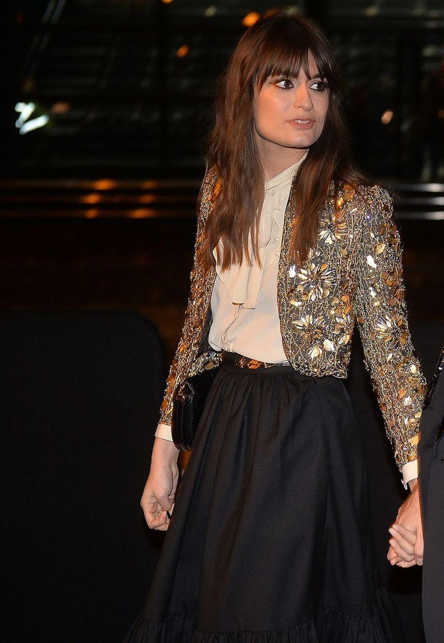 Clara Lucianiarrive audéfilé prêt-à-porter automne-hiver 2020/2021 de Celine à Paris le 28 février 2020.