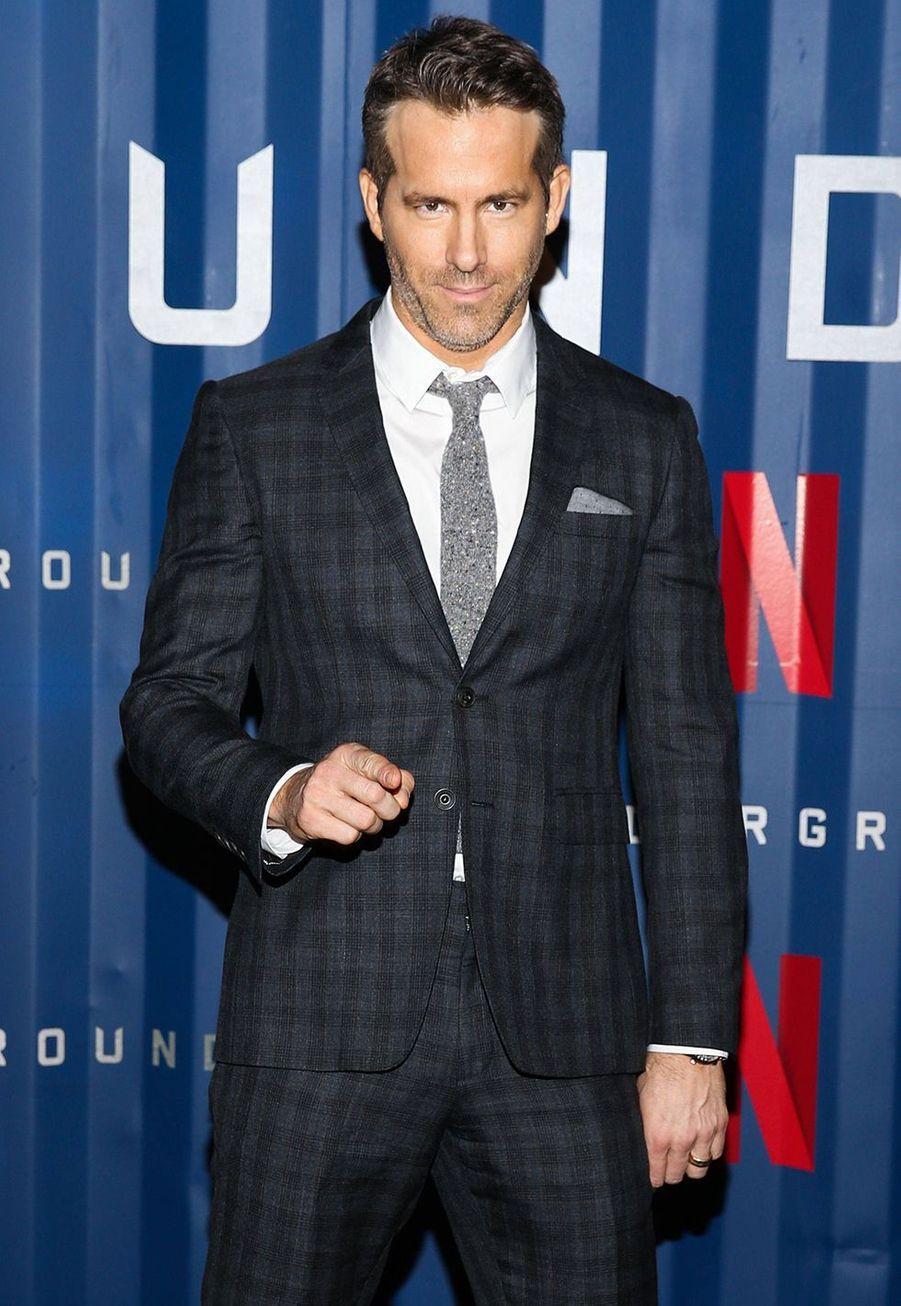 Ryan Reynoldsà l'avant-première du film «Six Underground» à New York le 10 décembre 2019