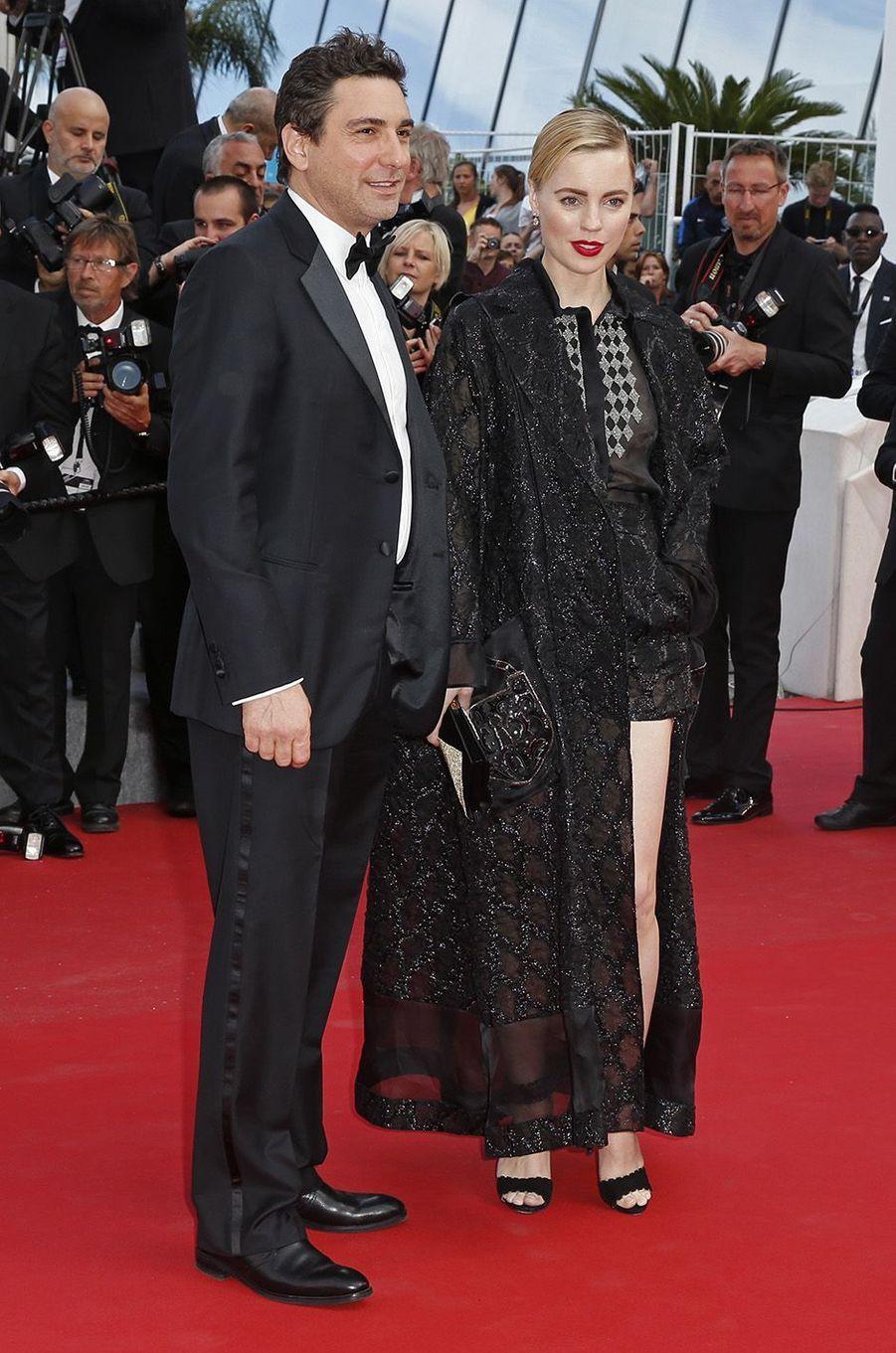 Melissa George et Jean-David Blanc à Cannes en 2015.