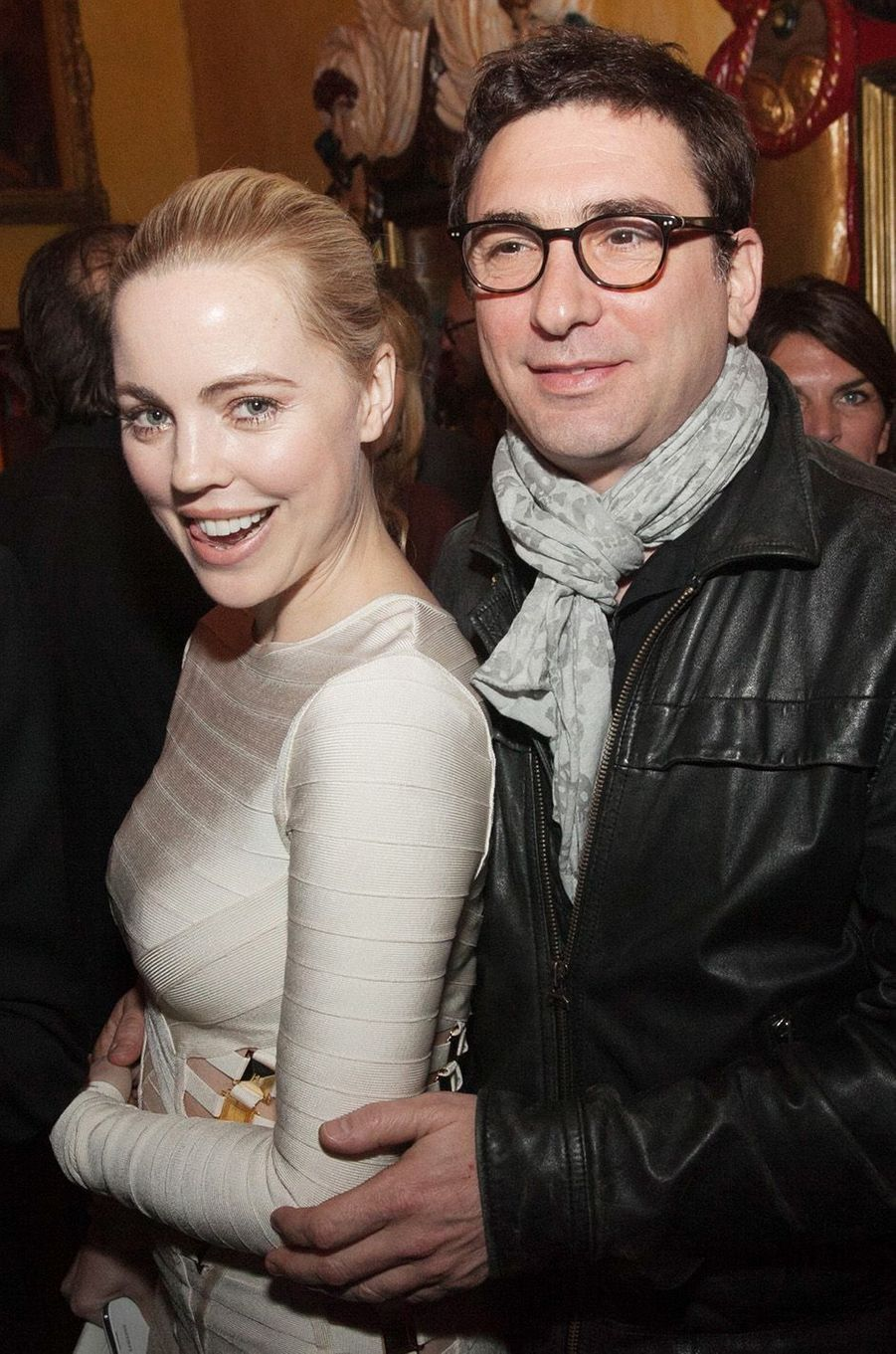 Melissa George et Jean-David Blanc à Paris en 2014.