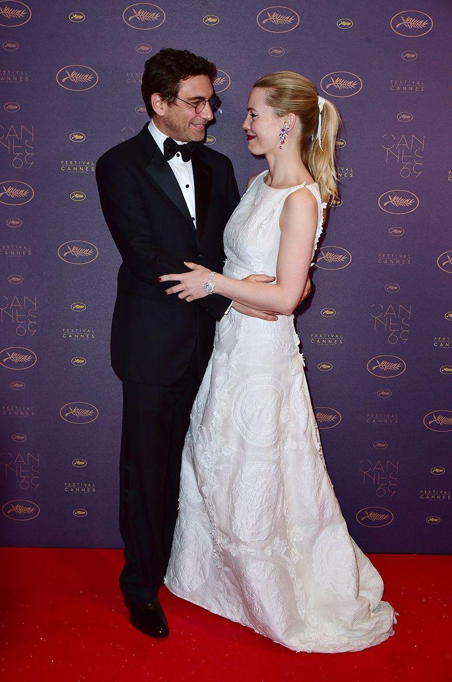 Melissa George et Jean-David Blanc au festival de Cannes 2016.
