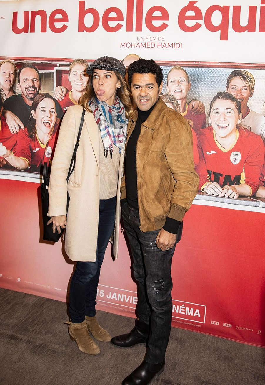 Mélissa Theuriau et Jamel Debbouzeà l'avant-première du film «Une belle équipe» à Paris le 3 décembre 2019