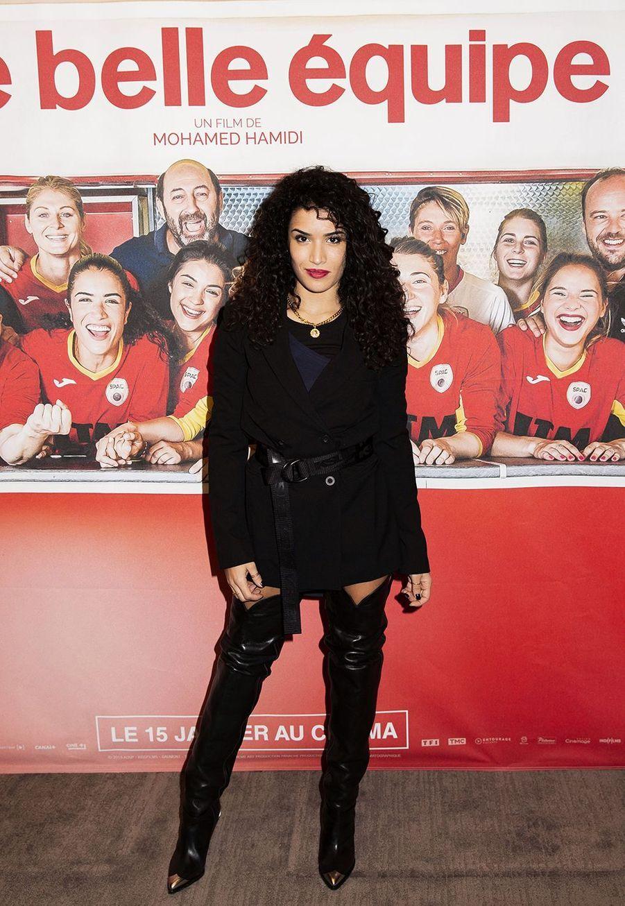 Sabrina Ouazanià l'avant-première du film «Une belle équipe» à Paris le 3 décembre 2019