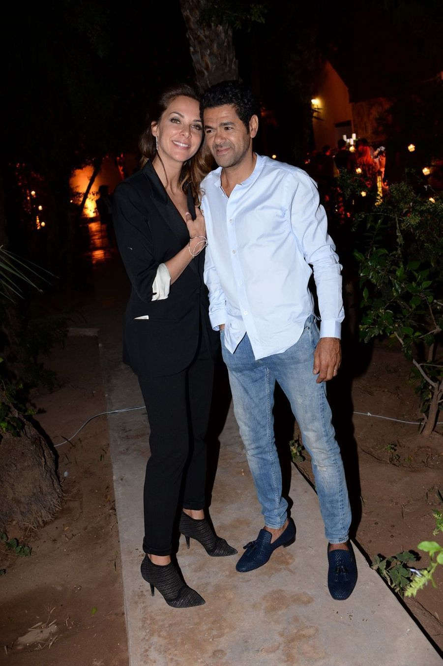 Mélissa Theuriau et Jamel Debbouze à la fête de clôture de la 9e édition du Marrakech du Rire le 15 juin 2019