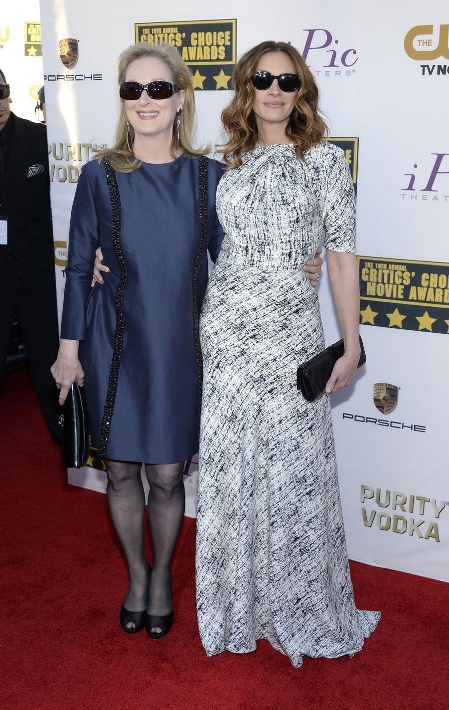 Meryl Streep et Julia Roberts à Santa Monica, le 16 janvier 2014