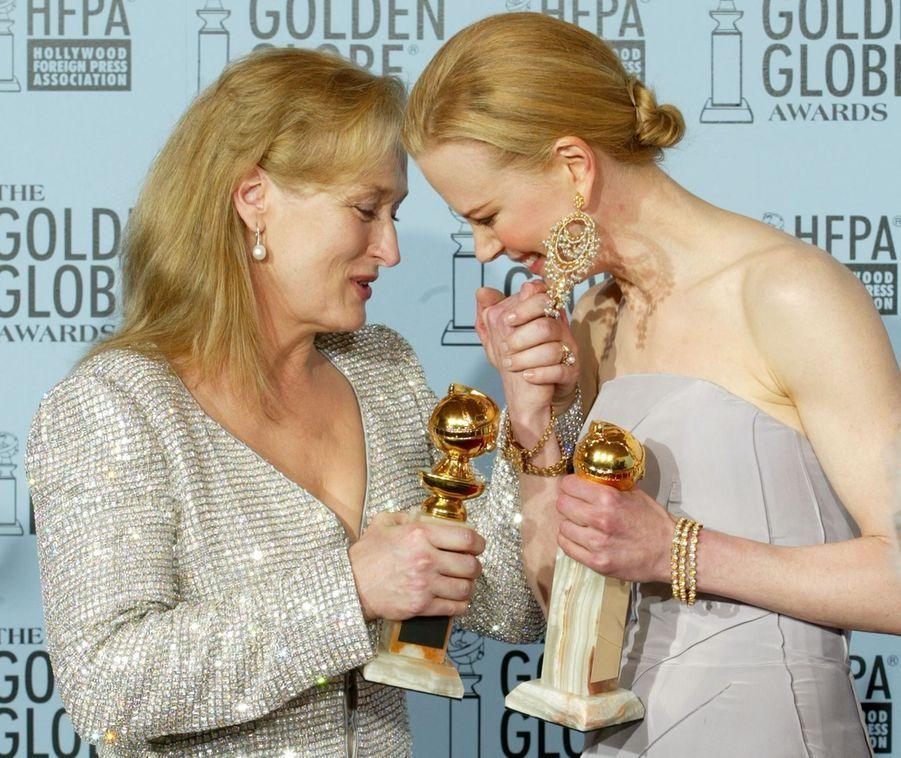 Meryl Streep et Nicole Kidman à Beverly Hills, le 19 janvier 2003
