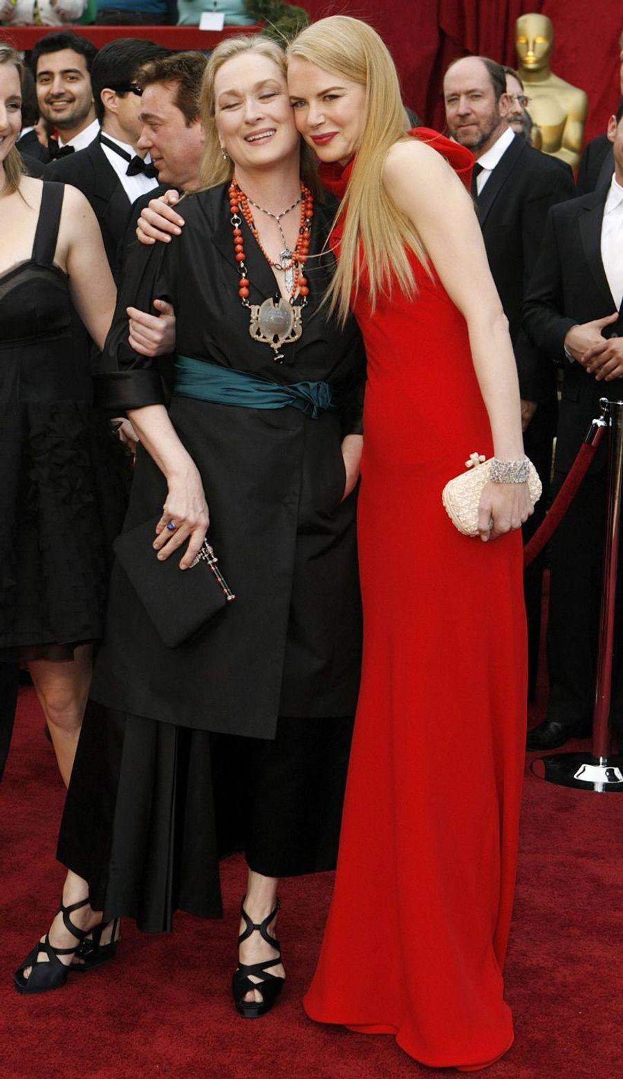 Meryl Streep et Nicole Kidman à Hollywood, le 25 février 2007