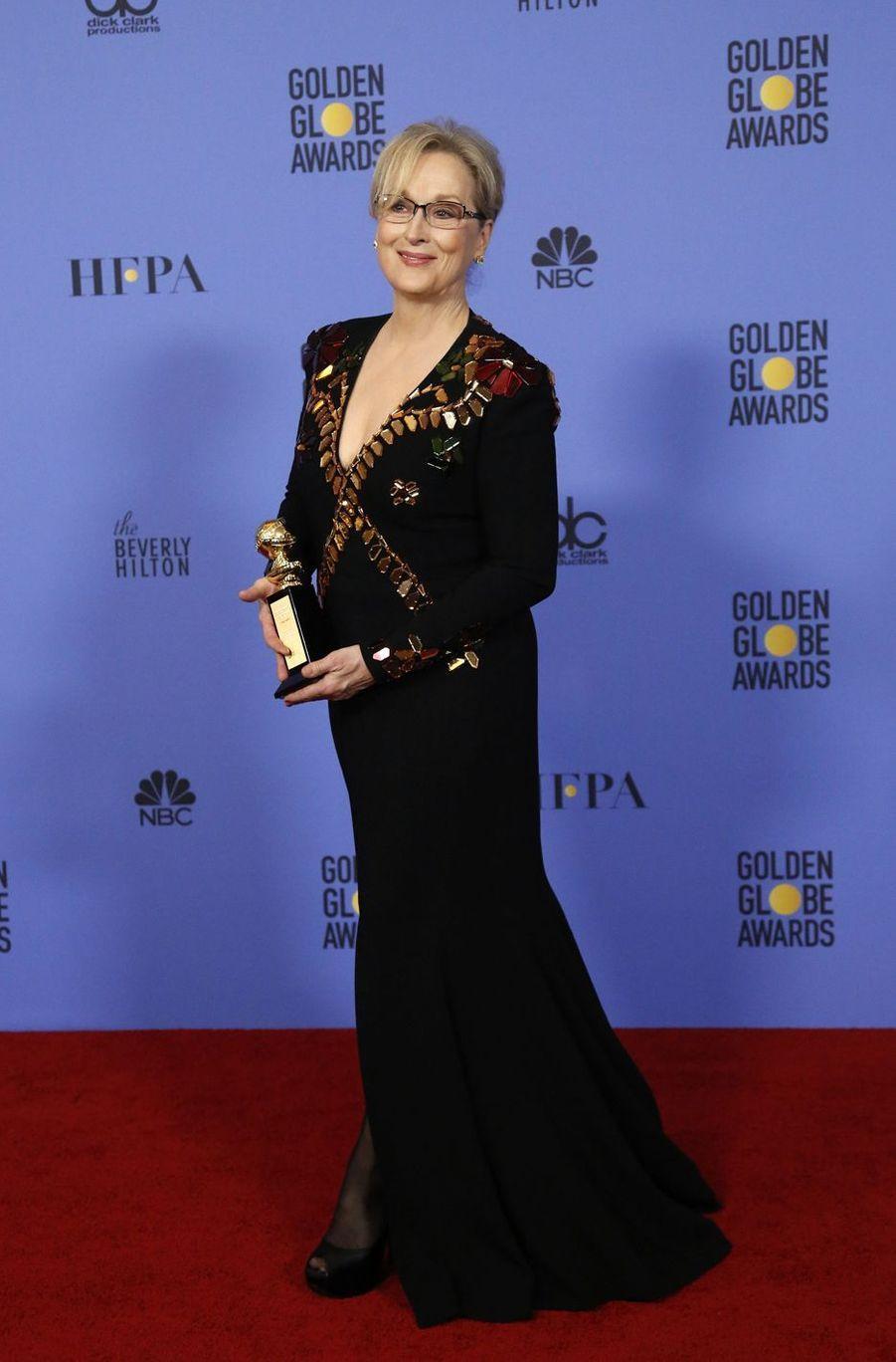 Meryl Streep à Beverly Hills, le 8 janvier 2017