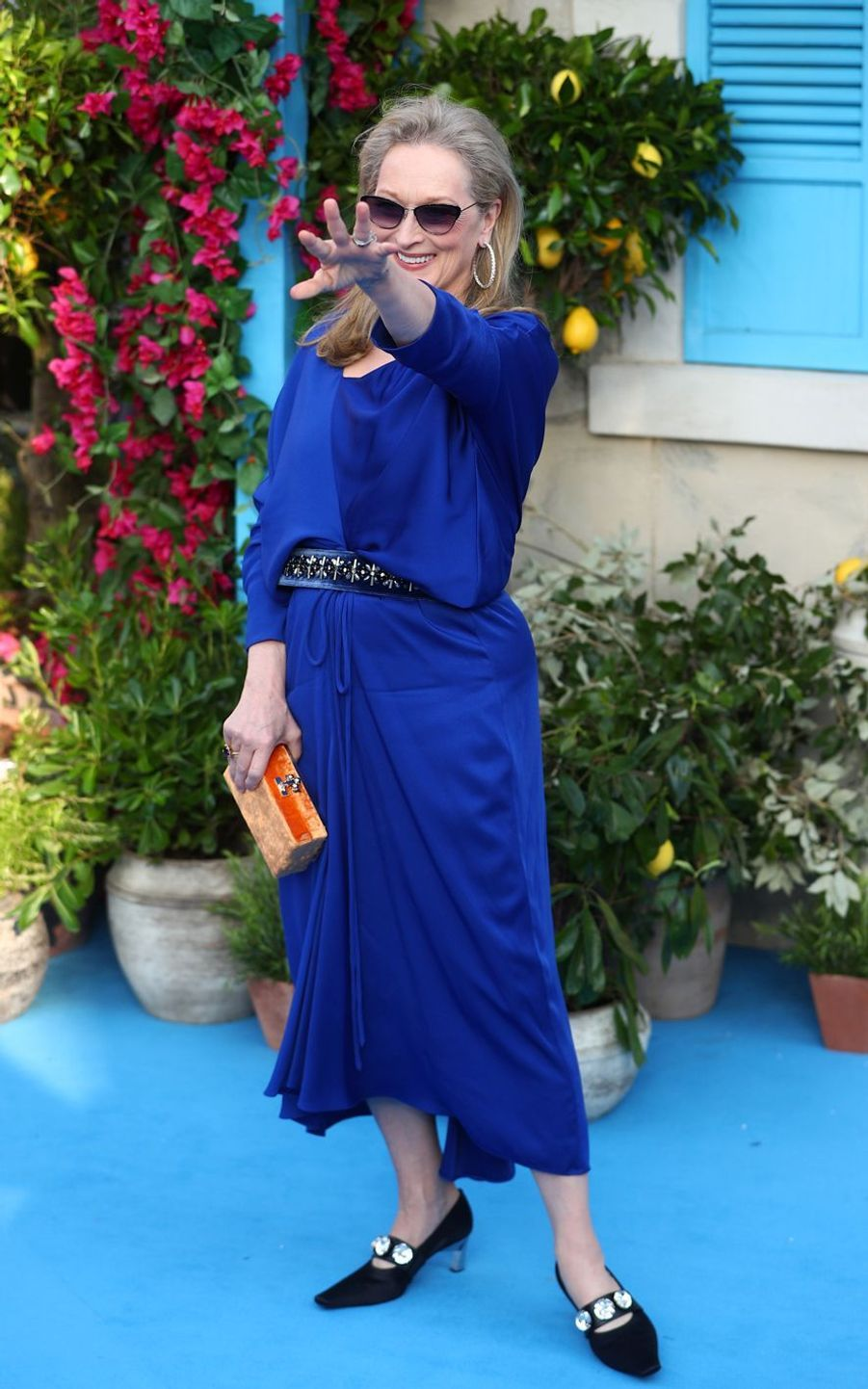 Meryl Streep à Londres, le 16 juillet 2018