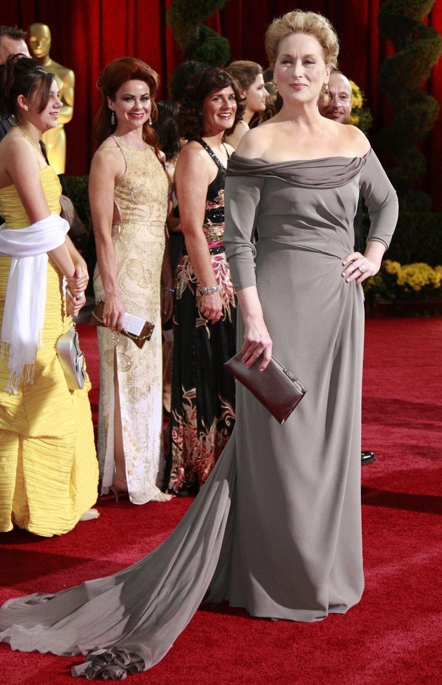 Meryl Streep à Hollywood, le 22 février 2009
