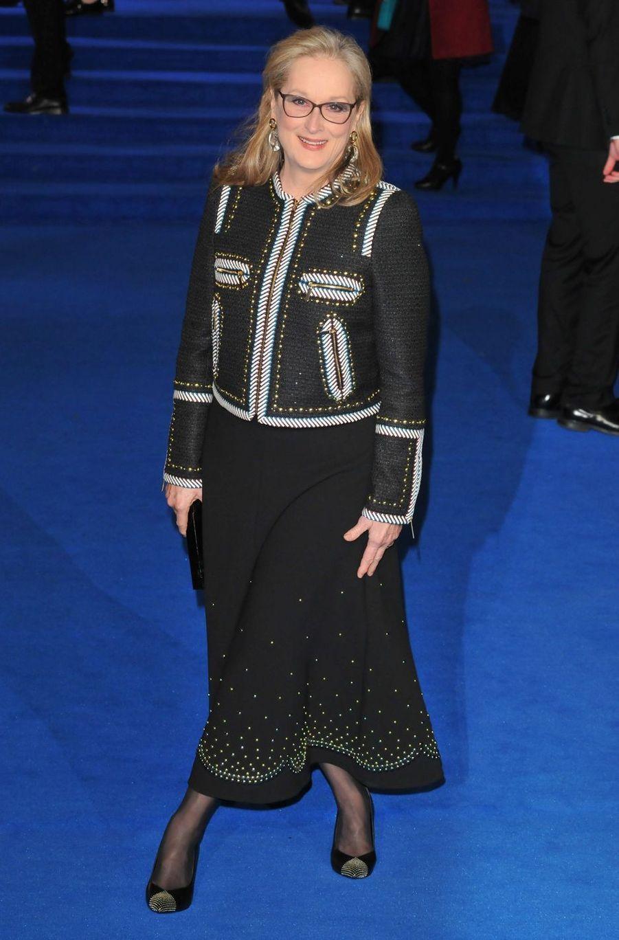 Meryl Streep à Londres, le 12 décembre 2018