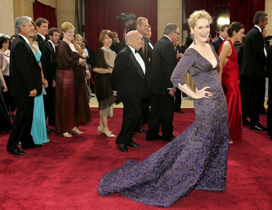 Meryl Streep à Hollywood, le 5 mars 2006