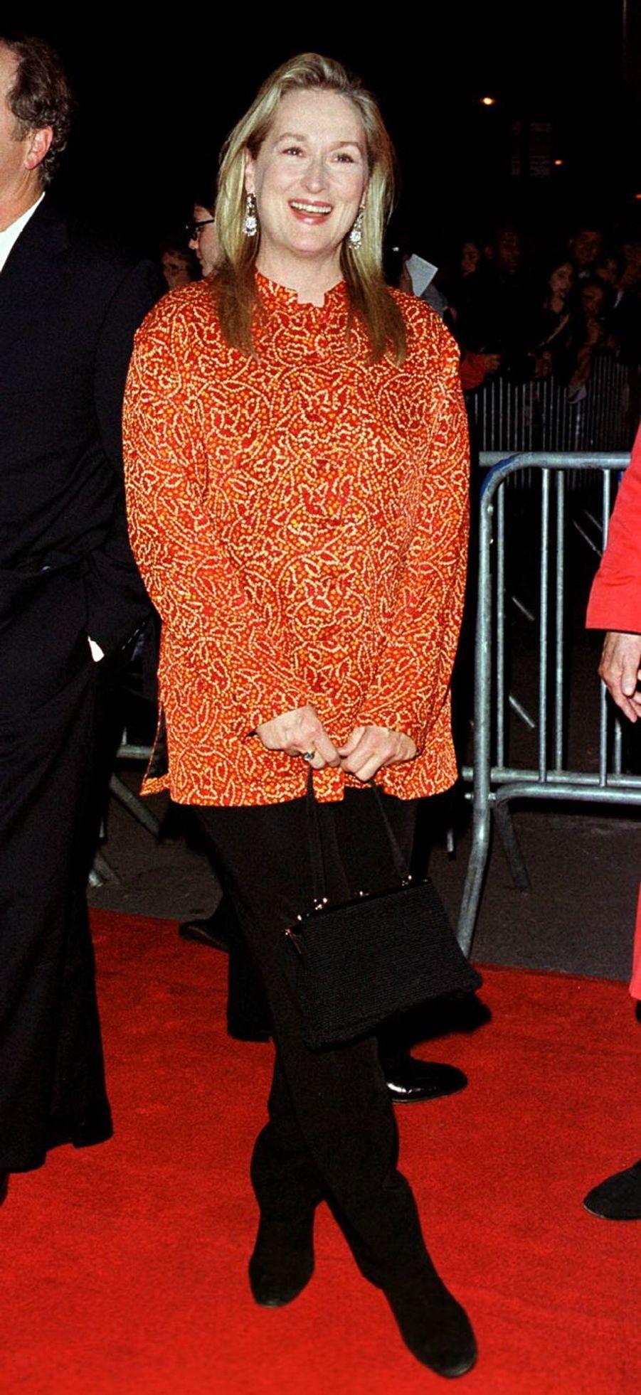 Meryl Streep à New York, le 29 octobre 1999