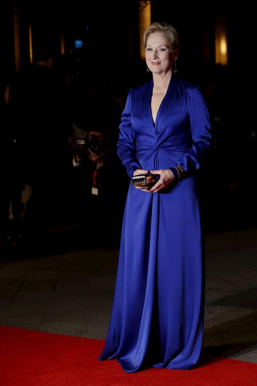 Meryl Streep à Londres, le 7 octobre 2015